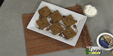 Mascarpone-Pumpkin Pie Squares Featured on Living With Amy