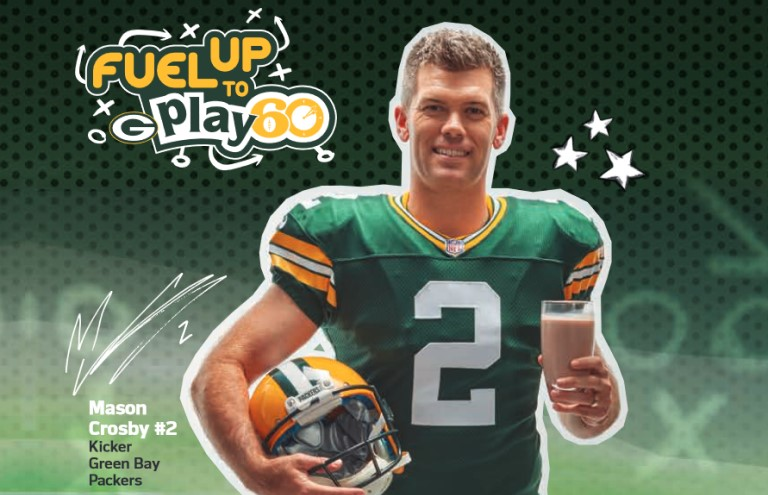 Mason Crosby with the Green Bay Packers and Fuel Up to Play 60